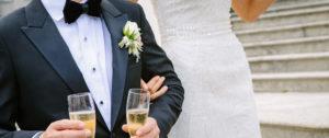Schwarzer Hochzeitsanzug mit Fliege